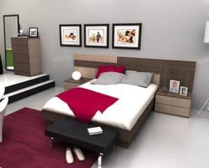 dormitorio con aro de cama