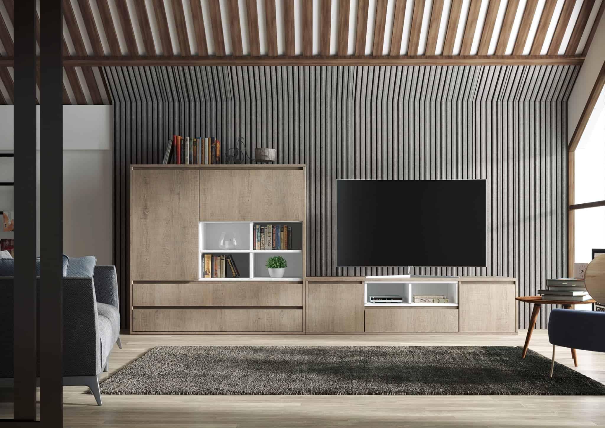 Módulo de tv y buffete