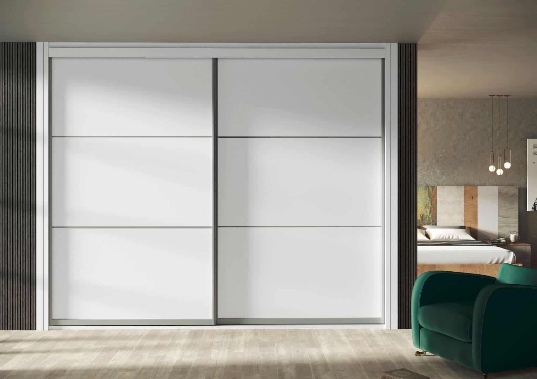 Armario de puertas correderas 106 blanco