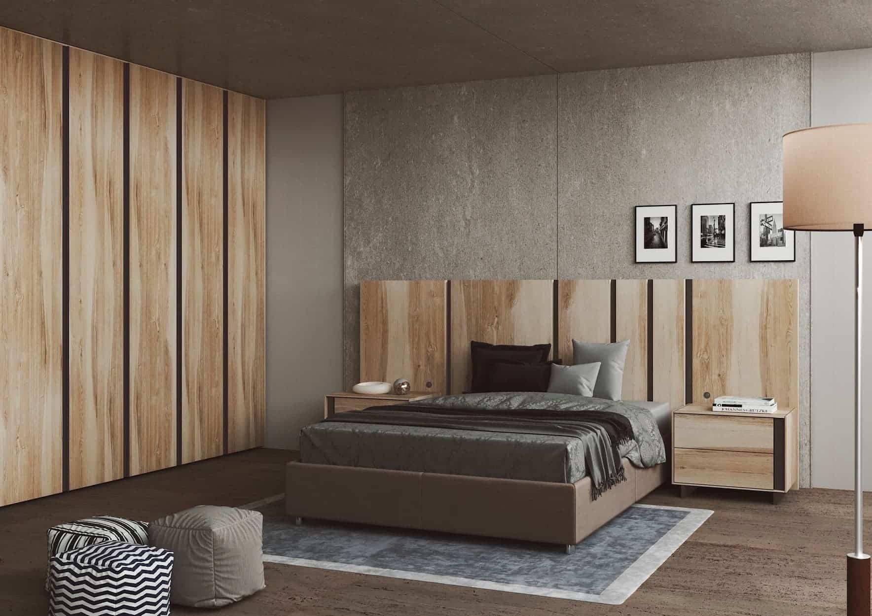 Dormitorio con tiradores antracita