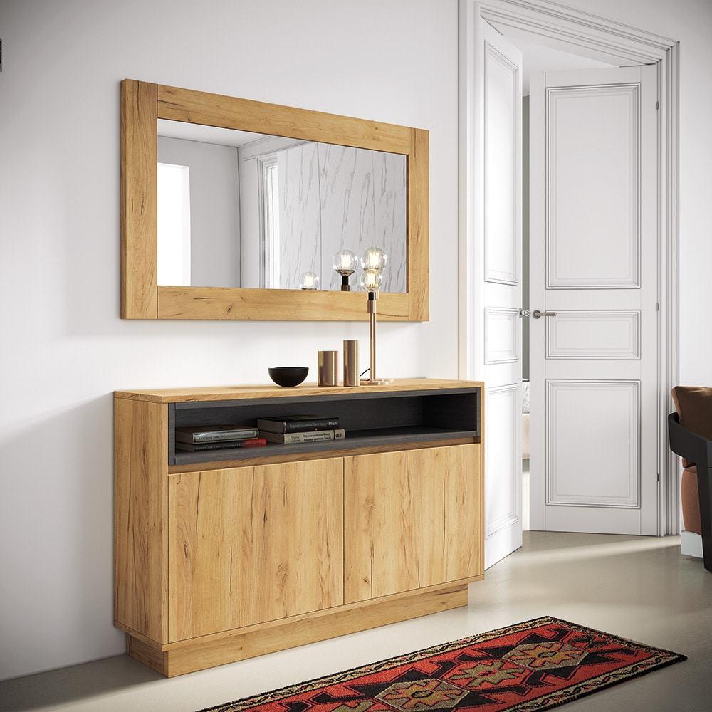 Recibidor y espejo enmarcado