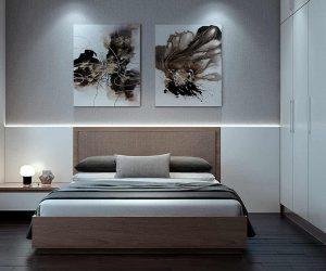 Dormitorio a medida con armario lacado